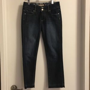 PAIGE CROPPED DARK DENIM HIDDEN HILLS JEANS